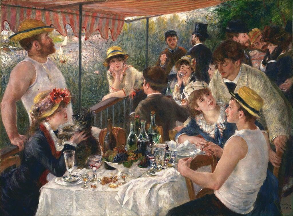 Almuerzo de remeros de Renoir