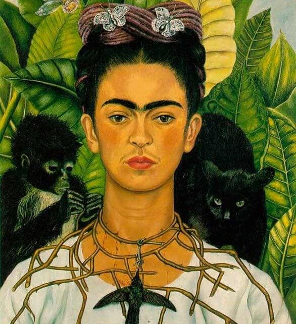"""""""Autorretrato con collar de espinas"""" de Frida Kahlo"""