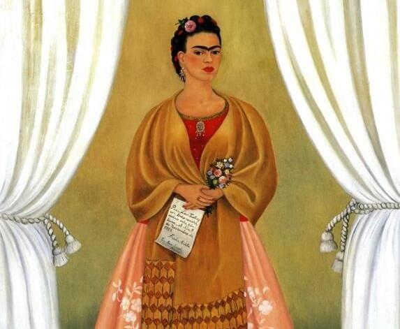 """""""Autorretrato dedicado a Trotsky"""" de Frida Kalho"""