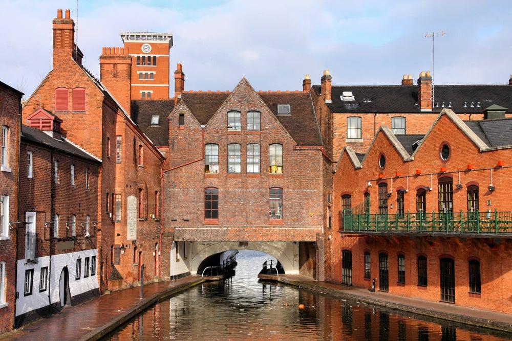 Lugares con canales, Birmingham en el Reino Unido