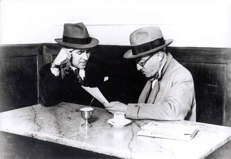 Pessoa en el Café Martinho