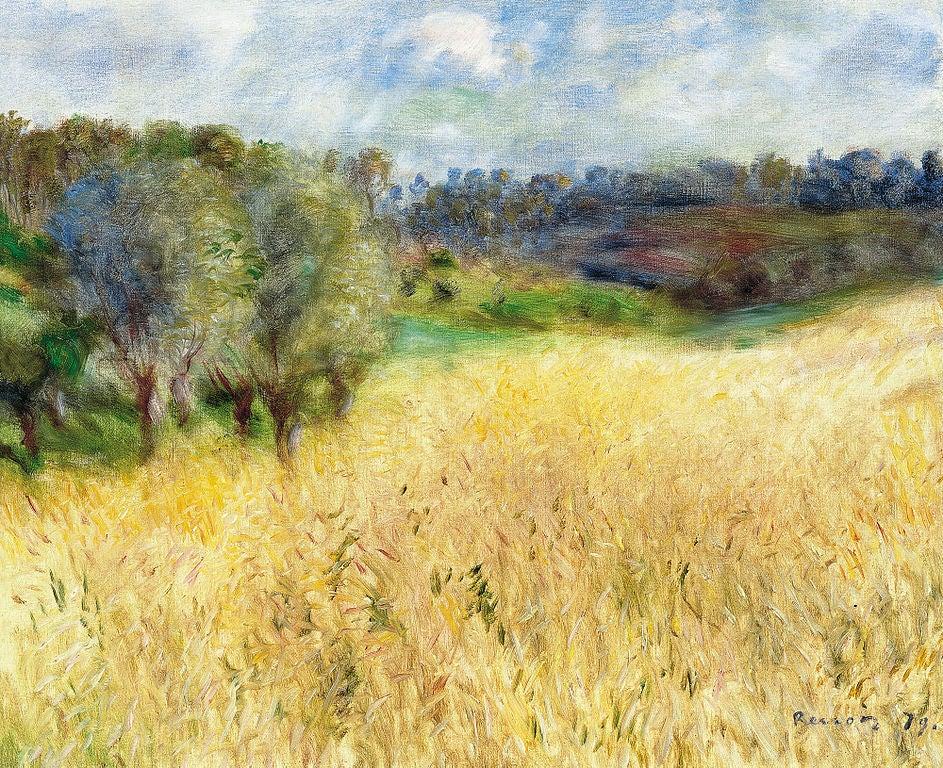 Campo de trigo de Renoir