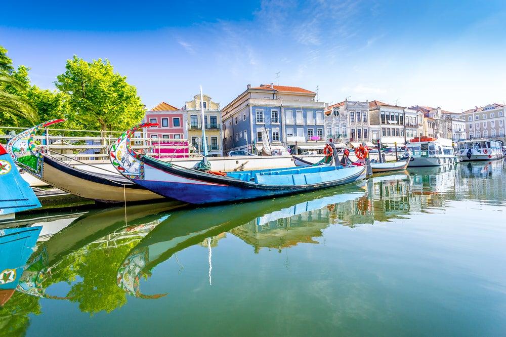 Canales en Aveiro en Portugal