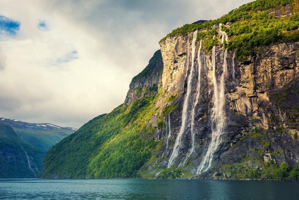 Catarata Siete Hermanas en Noruega
