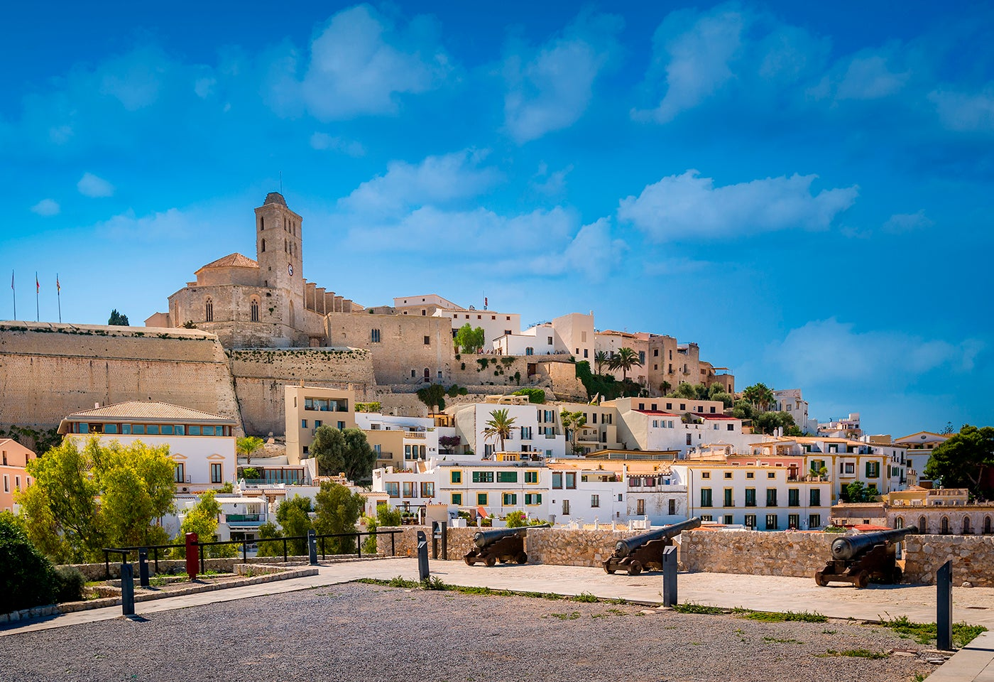 Dalt Vila en la isla de Ibiza