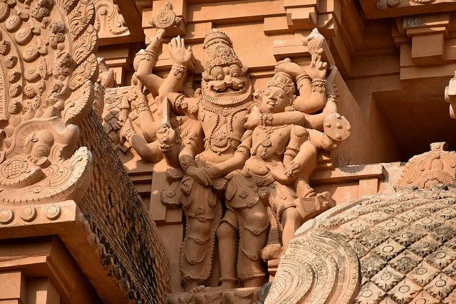 Detalle del templo de Brihadisvara