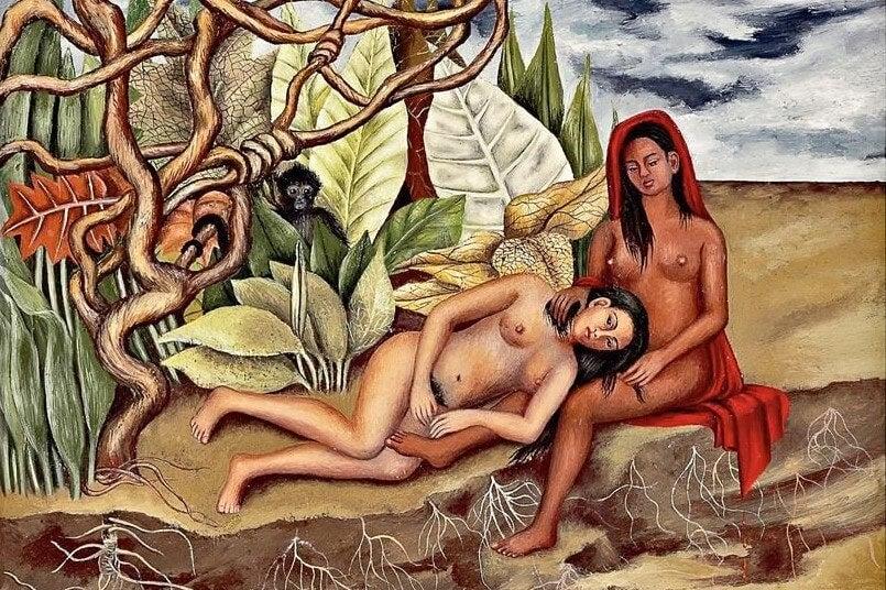 """""""Dos desnudos en un bosque"""" de Frida Kahlo"""