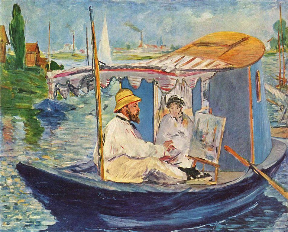 Monet en su barca, de Edouard Manet