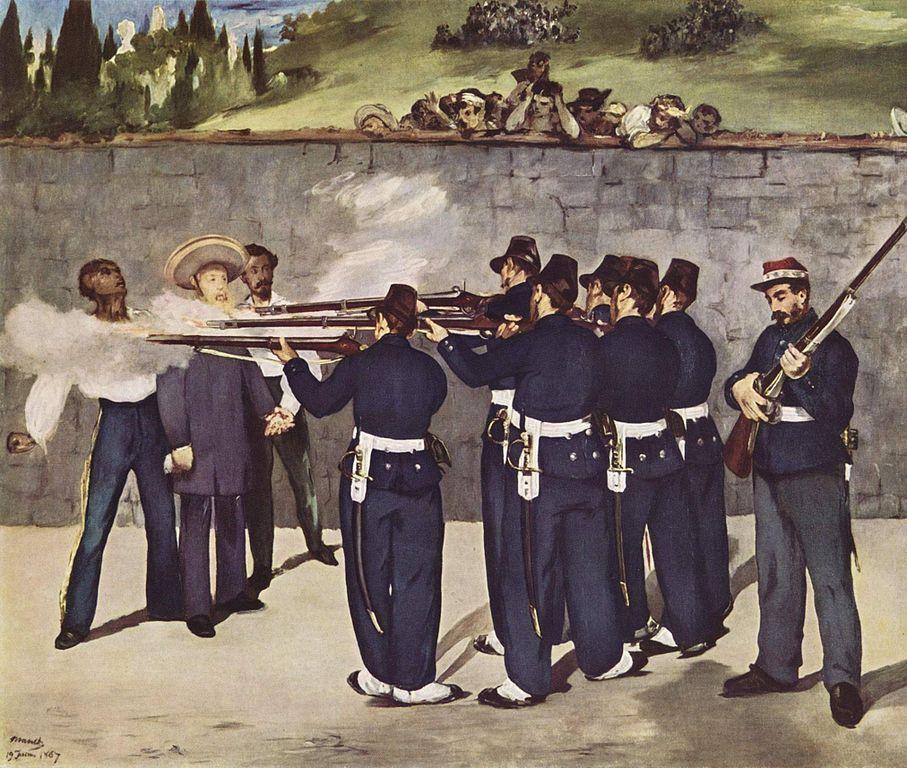 Fusilamiento del emperador Maximiliano, de Edouard Manet