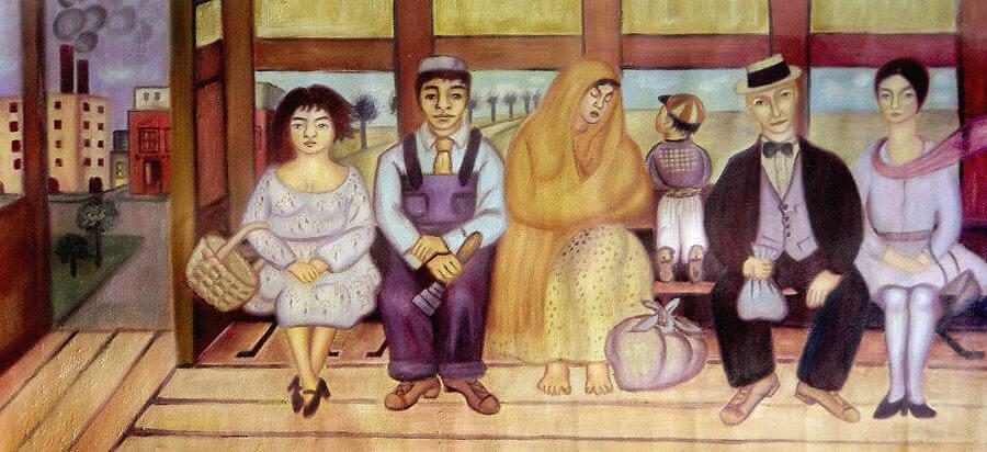 """""""El autobús"""" de Frida Kahlo"""