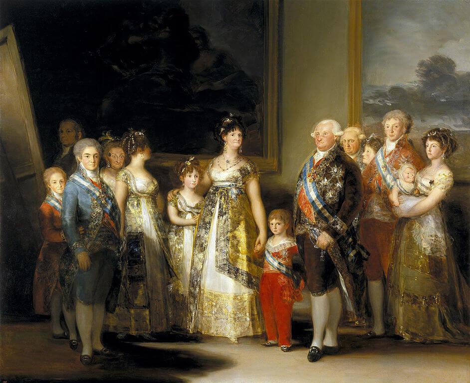 """La familia de Carlos IV"" de Francisco de Goya"