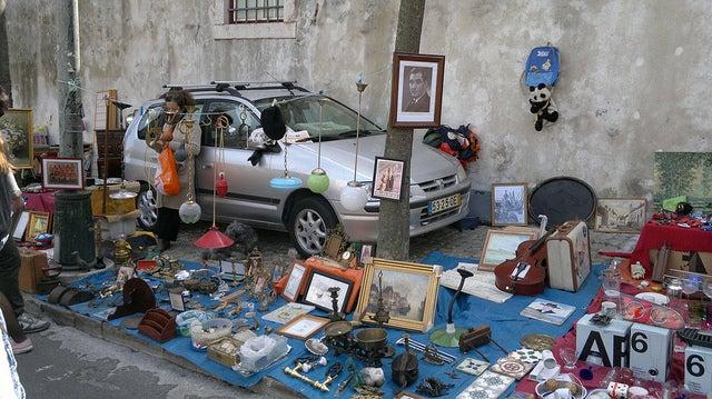 Feira das LAdras, uno de los lugares diferentes en Lisboa
