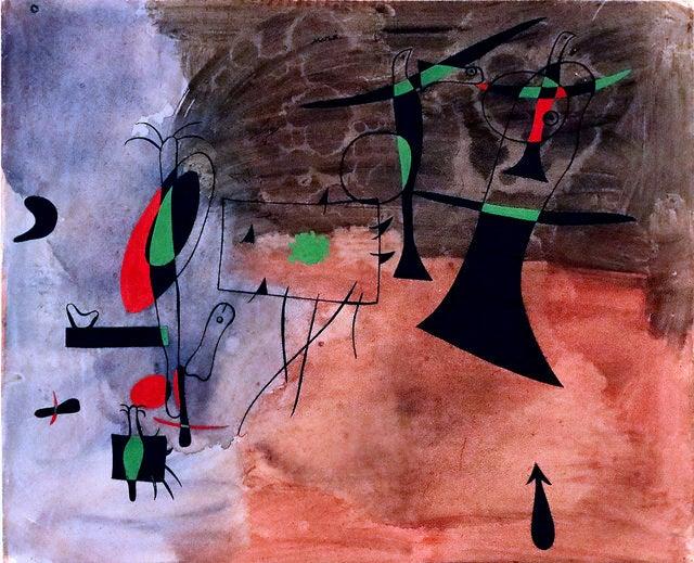cuadro de la Fundación Joan Miró