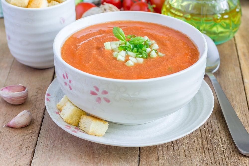Gazpacho, plato típico de la gastronomía española