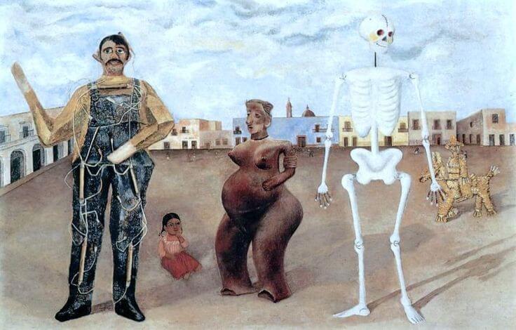 """""""Cuatro habitantes de la Ciudad de México"""" de Frida Kahlo"""