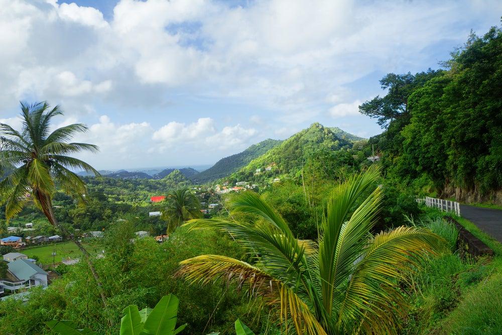 Isla Granada en el Caribe