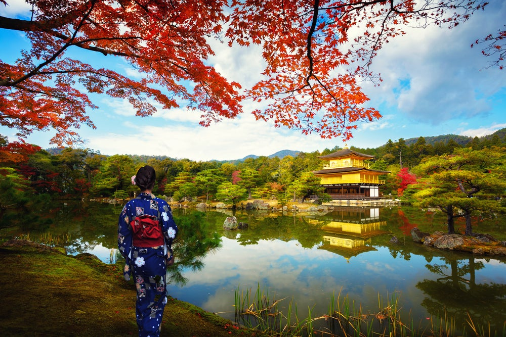 Vista del templo de Kinkaku-ji