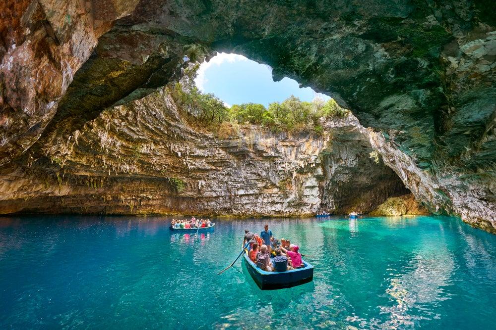 Lago Melissani en Grecia