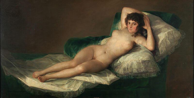 """Maja desnuda"" de Francisco de Goya"