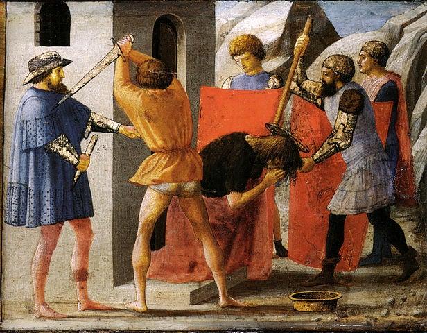Martirio de San juan Bautista de Masaccio