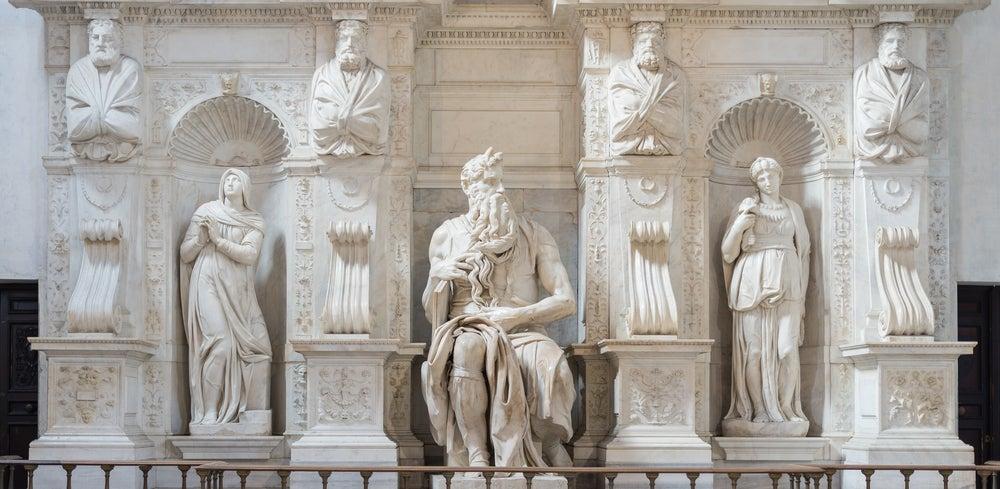 Moisés de Miguel Angel,una de las cosas que ver gratis en Roma