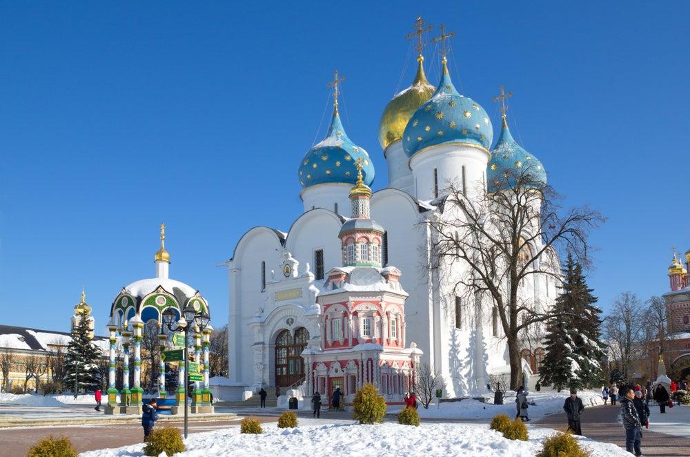 Monasterio dela Trinidad y San Sergio en Rusia