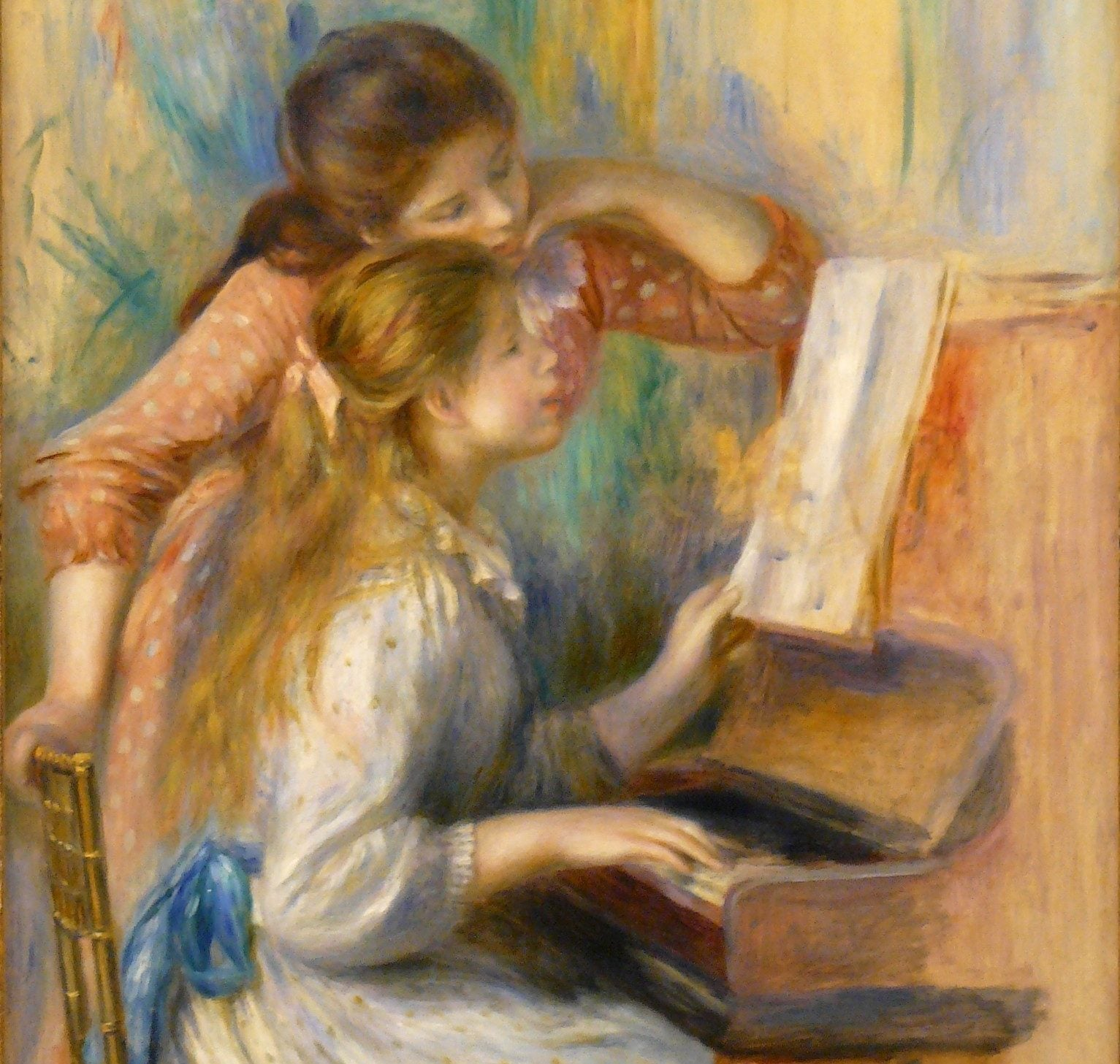 Muchachas al piano de Renoir
