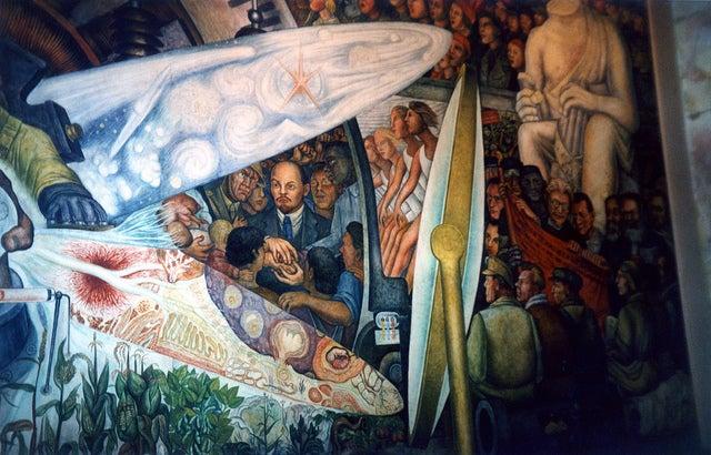 Mural de Diego Rivera en el Palacio de Bellas Artes de México