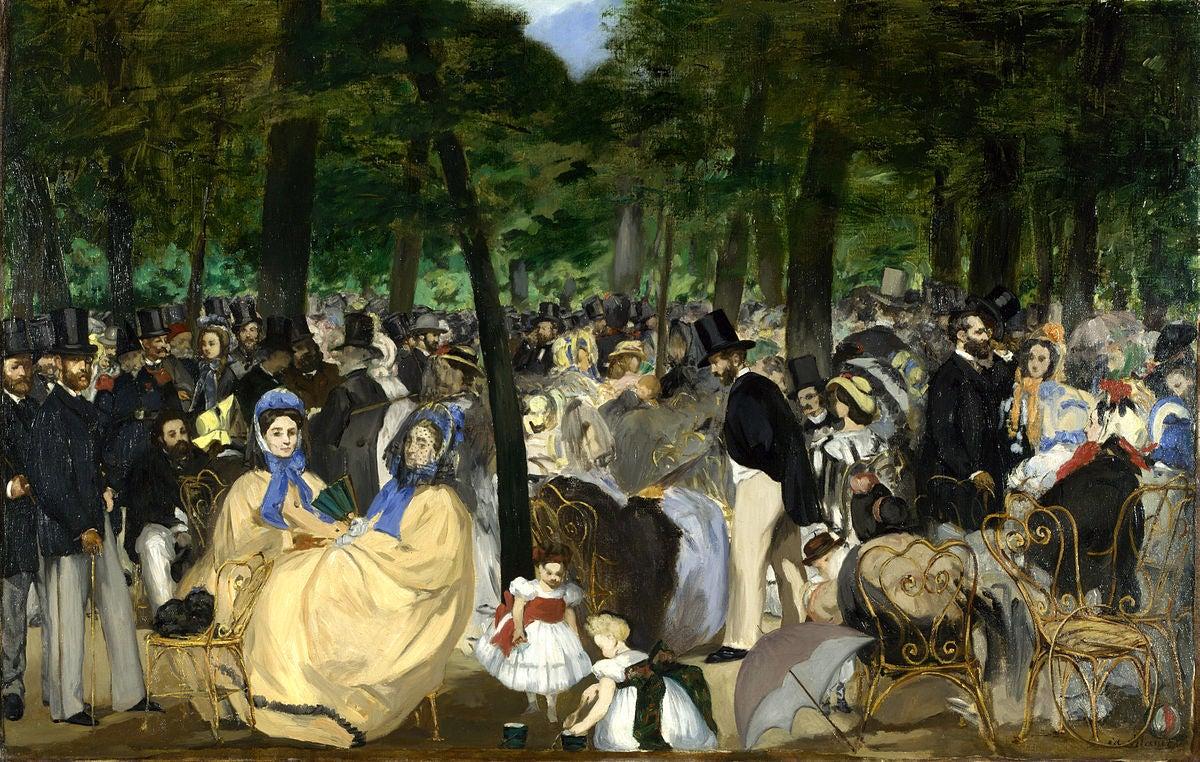 Música en Las Tullerías de Edouard Manet