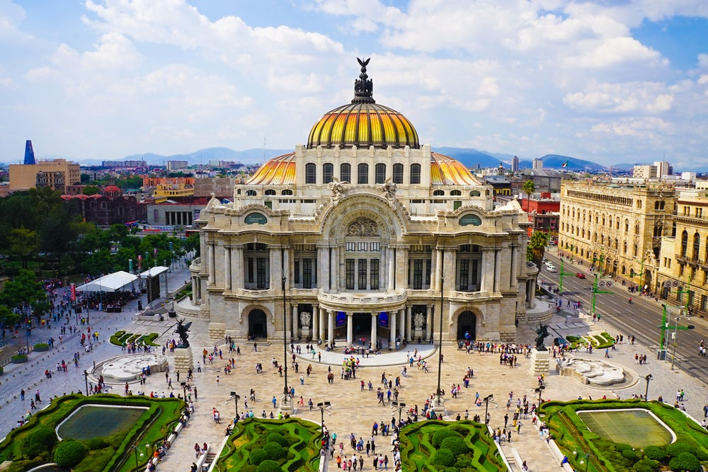 Palacio de Bellas Artes en la capital de México