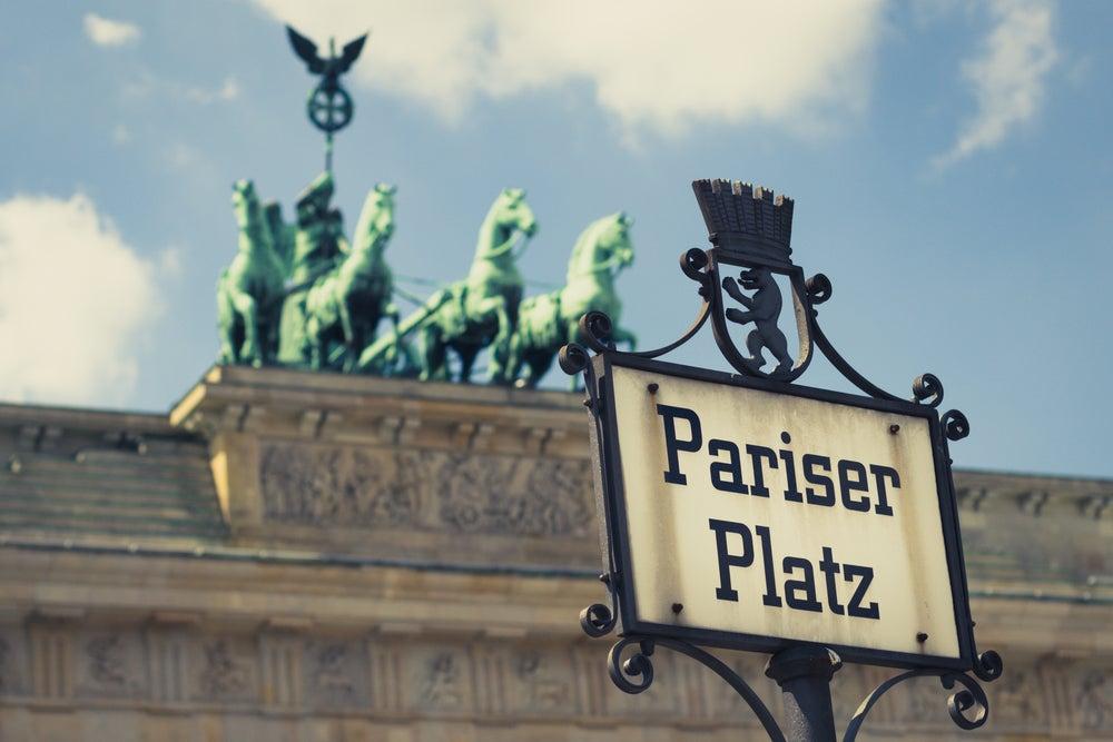Pariserplatz en Berlín