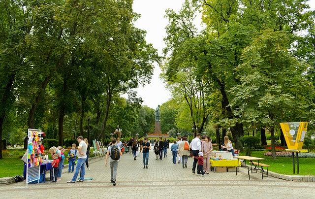 Parque Shevchenko en Kiev