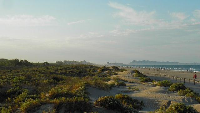 Playa de L'ahuir en Valencia