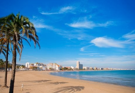 Playa Norte de Peñíscola en la provincia de Castellón