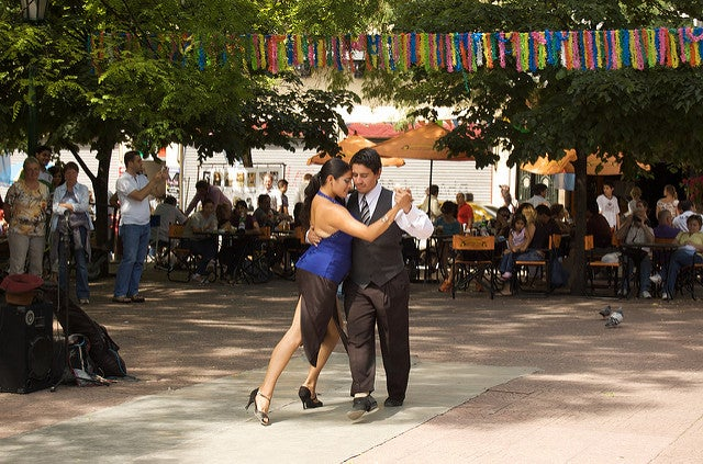 Plaza Dorrego en Buenos Aires