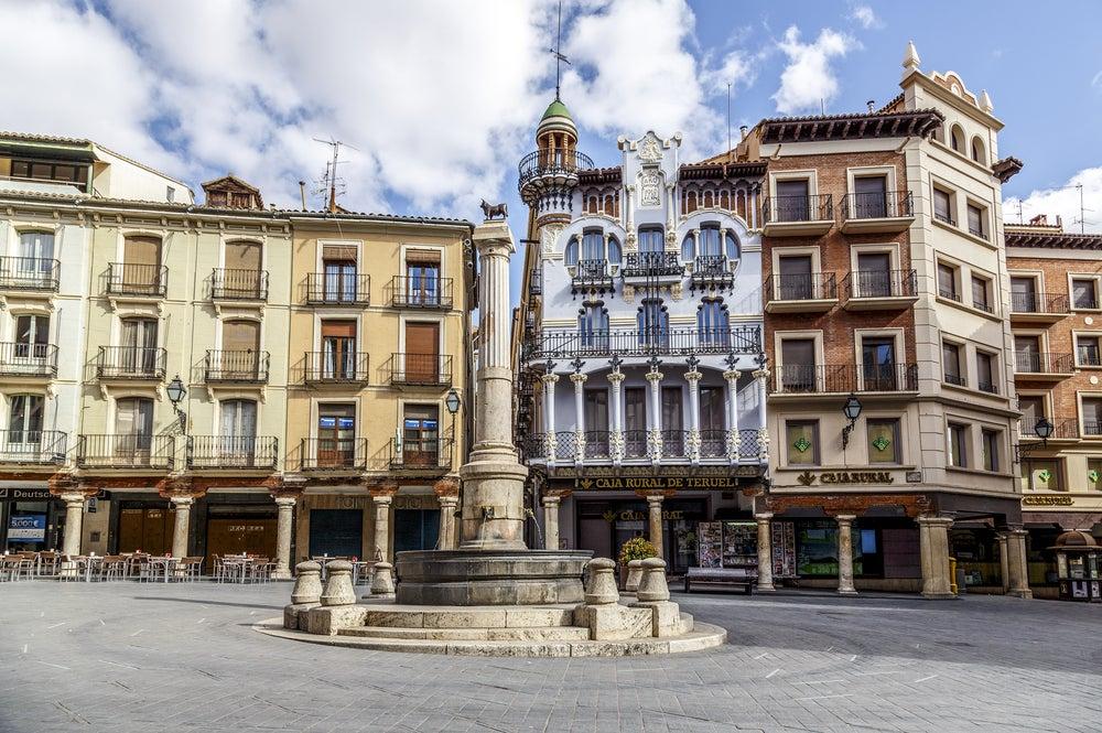 Plaza del Torico en la ciudad de Teruel