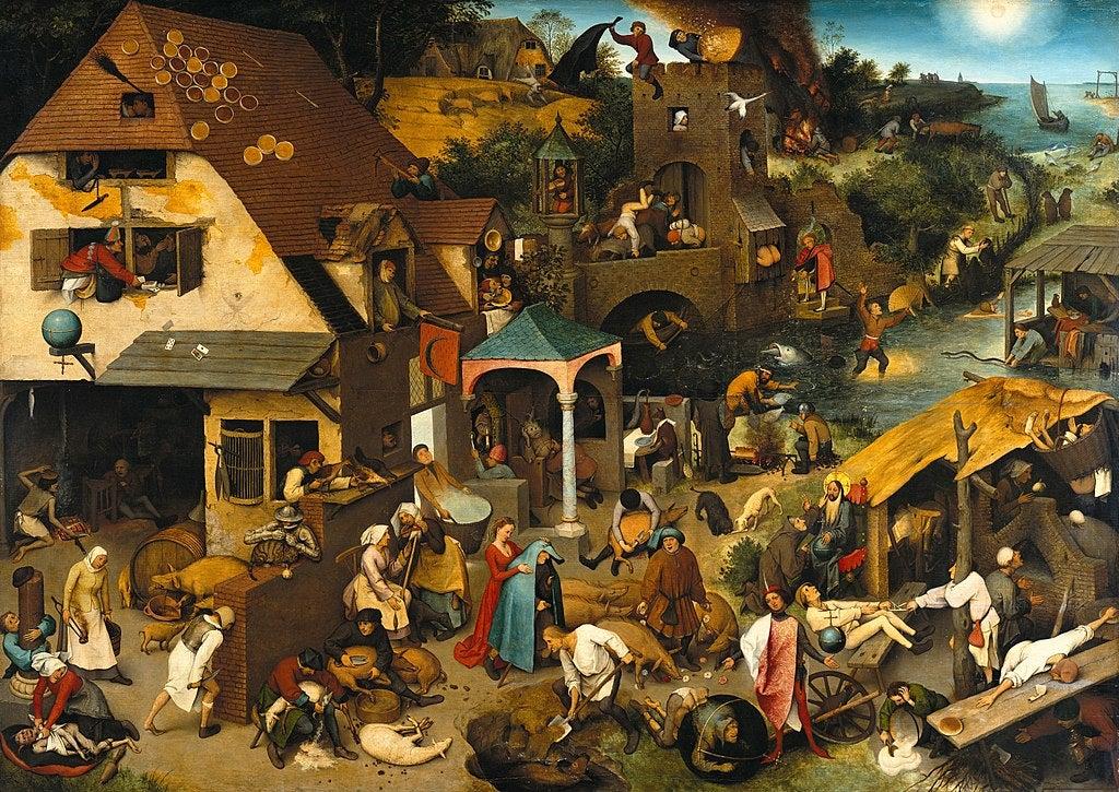 Proverbios flamencos de Pieter Brueghel