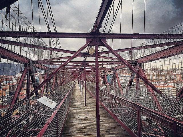 Parte superior del Puente de Vizcaya
