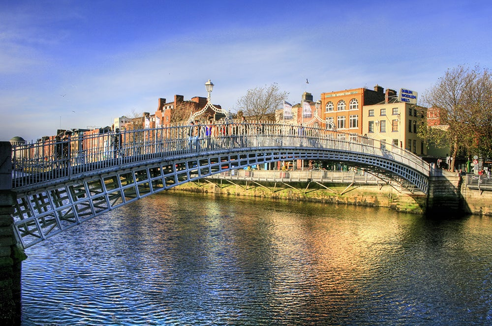 Ha'Penny Bridge en Dubín