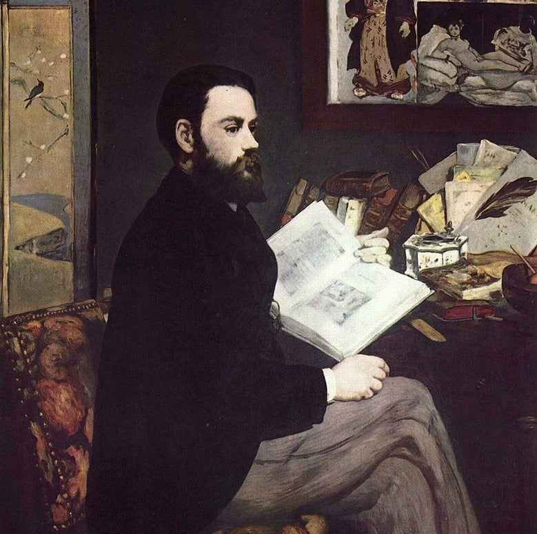 Retrato de Zola de Manet