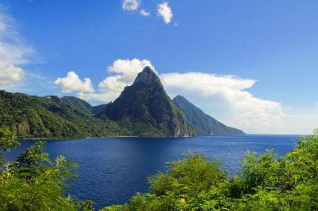 Santa Lucía en el Caribe