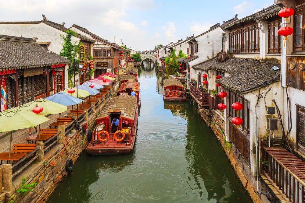 Canales de Suzhou en China