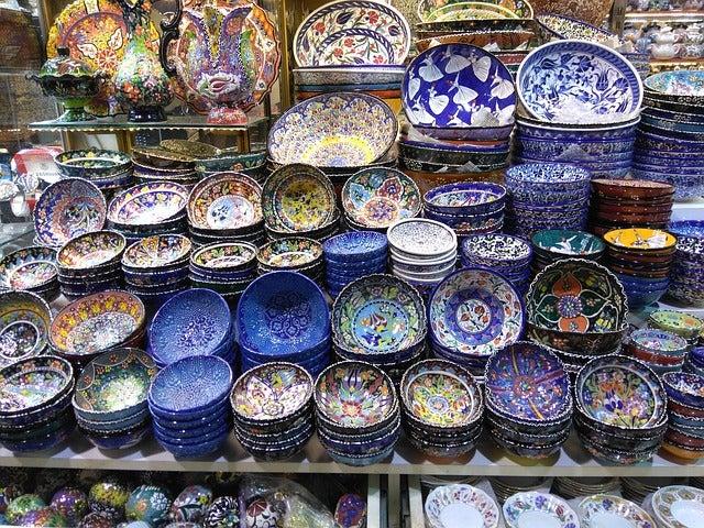 Tienda en el Gran Bazar de Estambul