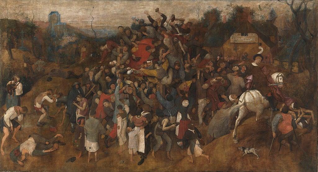 El vino de la fiesta de San Martín de Brueghel