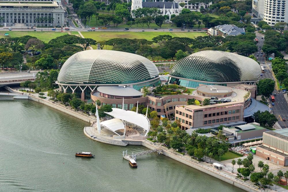 Vista aérea del Teatro Ópera Esplanade