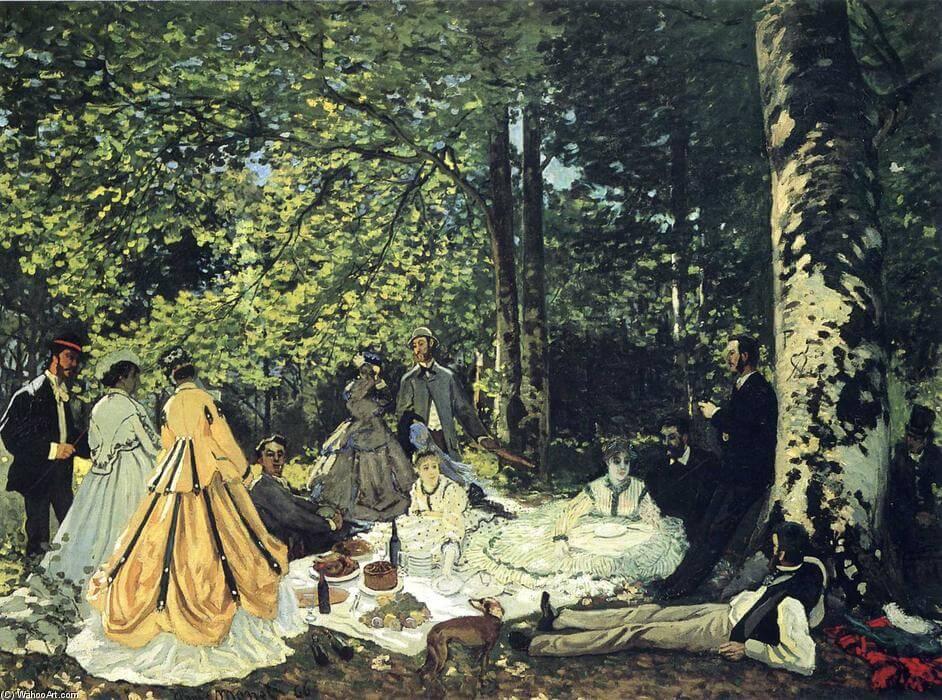 """""""Almuerzo sobre la hierba"""" de Monet"""