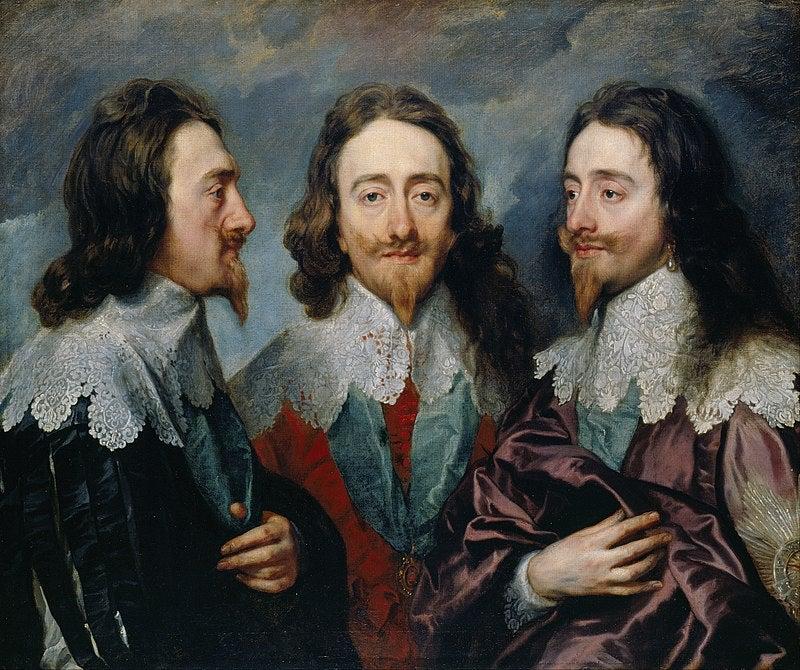 Triple retrato de Carlos I de Van Dyck