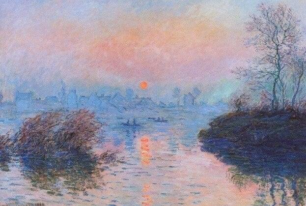 """""""Atardecer en el Sena"""" de Monet"""