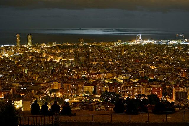 Barcelona desde los búkeres del Carmel