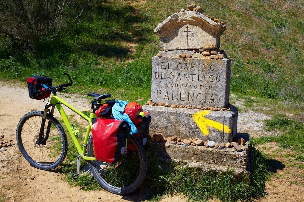 Señal en el Camino de Santiago